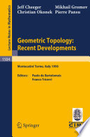 Geometric Topology  Recent Developments