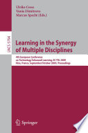 Learning in the Synergy of Multiple Disciplines