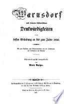 Warnsdorf mit seinen historischen Denkwürdigkeiten von dessen Gründung an bis zum Jahre 1850