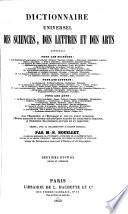 Dictionnaire universel des sciences