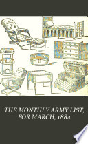 The Monthly Army List for March  1884