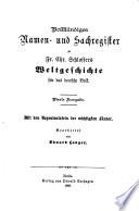 ...Namen und Sachregister...bearb. von Eduard Langer