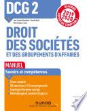 Dcg 2 Droit Des Soci T S Et Des Groupements D Affaires Manuel