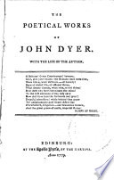 THE POETICAL WORKS OF JOHN DYER
