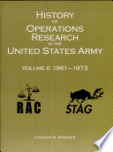 History of Operations Research in the United States Army  V  2  1961 1973  Paperback