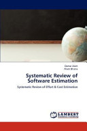 Systematic Review of Software Estimation