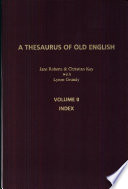 A Thesaurus of Old English: Index