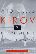 Who Killed Kirov