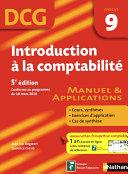 Introduction    la comptabilit     5  me   dition   DCG     preuve 9   Manuel et Applications