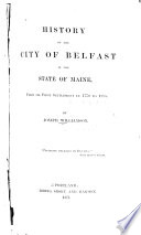 History of the City of Belfast in the State of Maine