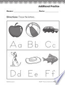 Pre Kindergarten Foundational Phonics Skills  Trace the Letters