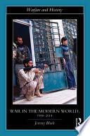 War in the Modern World  1990 2014