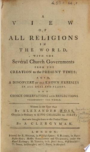 Πανσεβεια: or, a View of all religions in the world ... The sixth edition, enlarged and perfected, etc. With a portrait