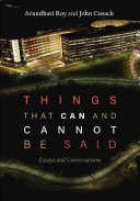 Ebook Things That Can and Cannot Be Said Epub Arundhati Roy,John Cusack Apps Read Mobile