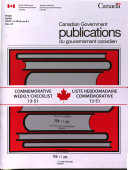 Canadian Government Publications Catalogue