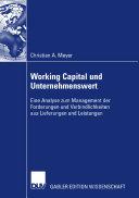 Working Capital und Unternehmenswert