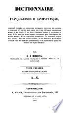 Dictionnaire fran  ais danois et danois fran  ais