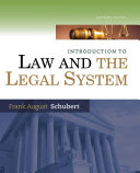 Introduction to Law and the Legal System
