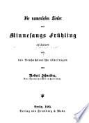 Die namenlosen lieder aus Minnesangs frühling