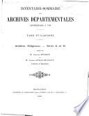 Inventaire sommaire des archives départementales ...