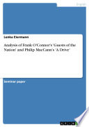Analysis of Frank O Connor s  Guests of the Nation  and Philip MacCann s  A Drive