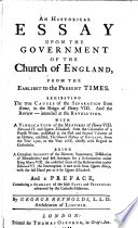 An Historical Essay Upon the Government of the Church of England