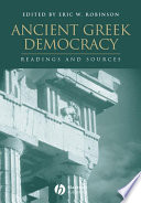 Ancient Greek Democracy Book PDF