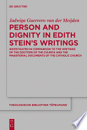 Person And Dignity In Edith Stein S Writings