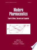 Modern Pharmaceutics  Fourth Edition