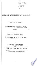 A Manual Of Geographical Science Ancient Geography By W L Bevan