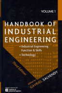 Handbook of Industrial Engineering  Technology Andoperations Management