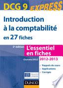 Introduction    la comptabilit   DCG 9 2012 2013   3e   d