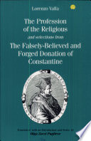 The Profession of the Religious and Selections from The Falsely believed and Forged Donation of Constantine