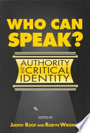 Who Can Speak  book