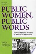 Public Women  Public Words