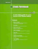 Math Connects  Course 3 Study Notebook