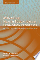 Managing Health Education and Promotion Programs