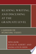 Reading  Writing  and Discussing at the Graduate Level