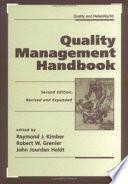 Quality Management Handbook  Second Edition