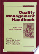 Quality Management Handbook, Second Edition,