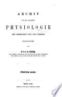 Pfl  ger s Archiv f  r die gesamte Physiologie des Menschen und der Tiere