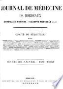 Journal de médecine de Bordeaux et du Sud-Ouest