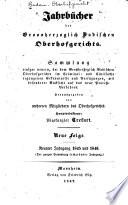 Jahrbücher des Grossherzoglich badischen Oberhofgerichts