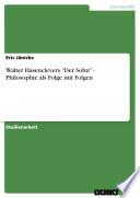 Walter Hasenclevers Der Sohn   Philosophie Als Folge Mit Folgen