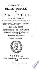 Spiegazione delle pistole di San Paolo con un analisi che spiega l ordine e la connessione del testo ecc