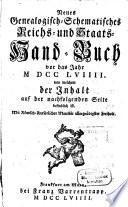 Neues genealogisch-schematisches Reichs- und Staats-Handbuch