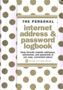 Gold Dots Internet Address   Password Logbook