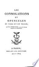 Les Consolations et Opuscules