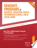 Peterson's Graduate Programs in Physical Education, Sports, and Recreation 2011