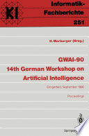 GWAI 90 14th German Workshop on Artificial Intelligence